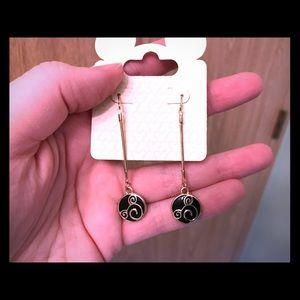 Black & Gold Mickey Disney Earrings